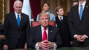 Donald Trump en la toma de posesión como presidente de los EEUU el 20 de enero de 2017.