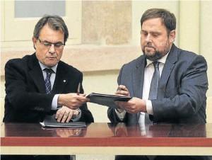 Mas y Oriol Junqueras