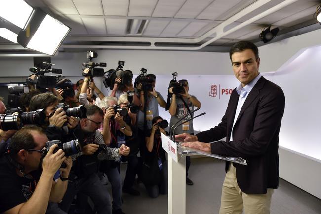 Pedro Sánchez ha comparecido ante los medios de comunicación para despedirse como secretario general del PSOE.
